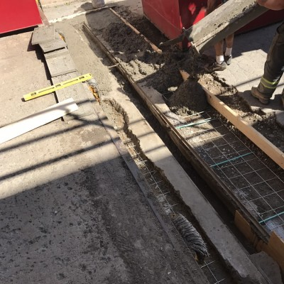 CONCRETE PAD REPLACEMENT - During