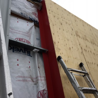 Flashing installation prior to stucco work